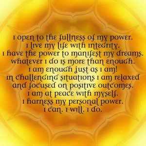 solar plexus affirmations through the solar plexus chakra